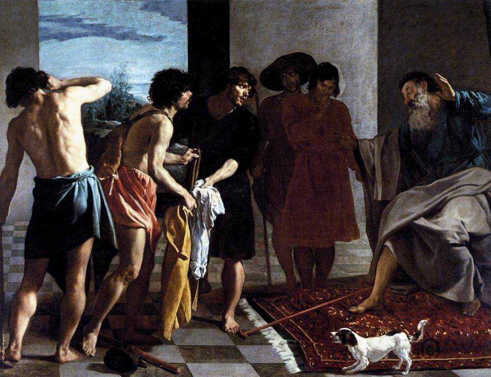 Joseph's Bloody Coat Brought to Jacob, 1630 by Diego Velazquez