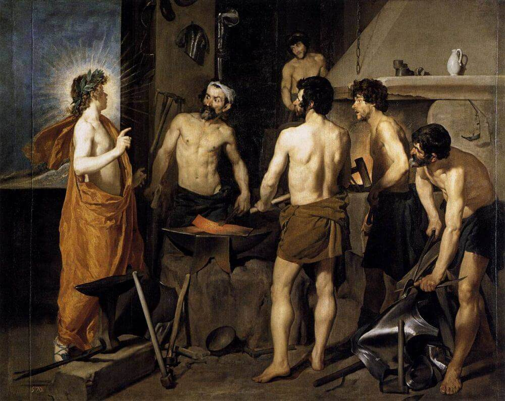 The Forge of Vulcan, 1630 by Diego Velazquez