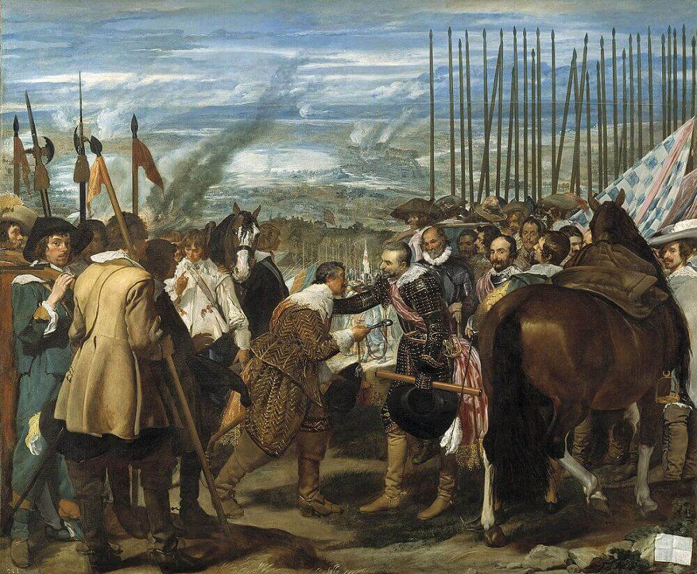 The Surrender of Breda, 1634 by Diego Velazquez